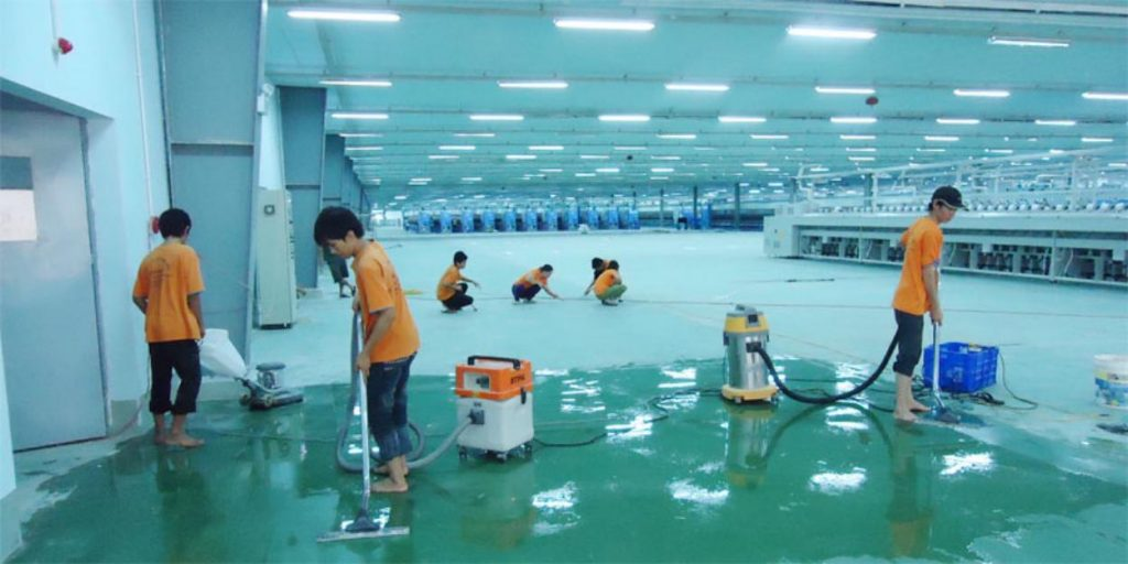 Vệ sinh đánh bóng kho hàng nhà xưởng tại Đà Nẵng